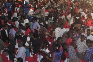 Cross section of the crowd at Alabanza Concert