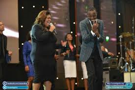 Kim Burrell with Dunsin at COZA, Abuja