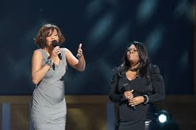 "Kim Burrell and late Whitney Houston Performing ""I look to you"""