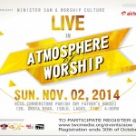 """EVENT: """"Atmosphere Of Worship"""" Concert To Hold on Sunday, 2nd November, 2014"""