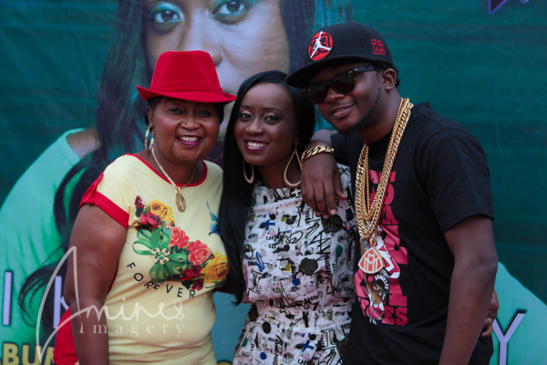 Nikki with brother Xblaze and Mrs Laoye(mum)