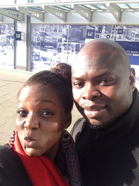 Toye and his pretty ivorian wife