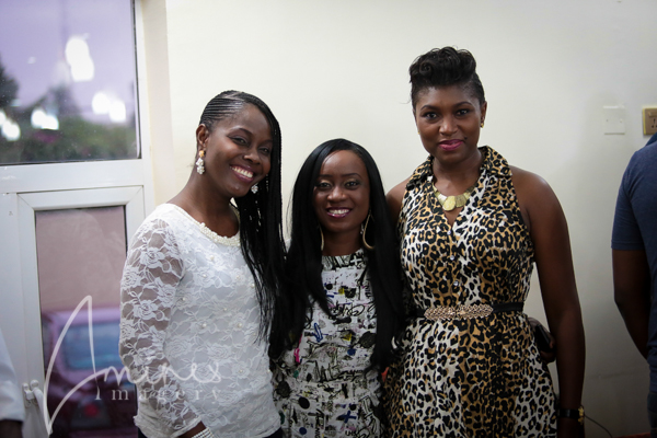 Nikki with actress Ufuoma ejenobor and singer, Onos