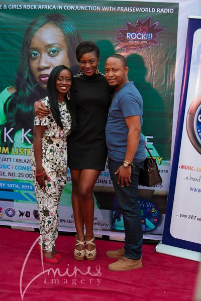Nikki with hubby alexander and actress Kiki Omeili