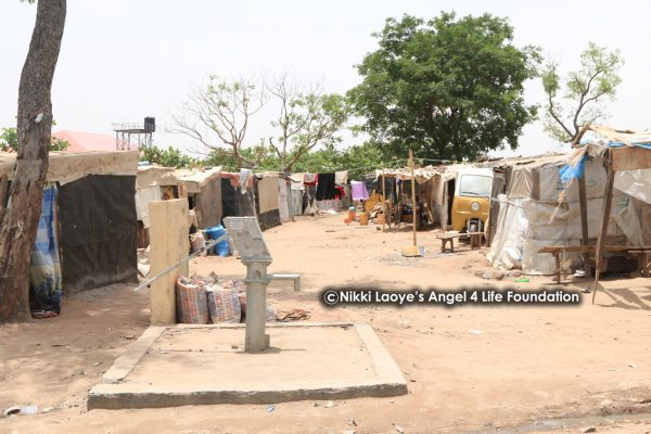 A section of the IDP camp